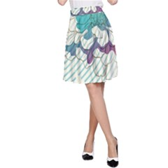Flower Rose Purple Sunflower Lotus A Line Skirt by Mariart
