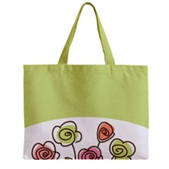 Flower Simple Green Rose Sunflower Sexy Mini Tote Bag by Mariart