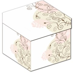 Flower Simple Pink Storage Stool 12   by Mariart
