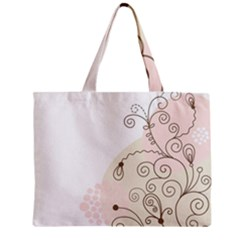 Flower Simple Pink Zipper Mini Tote Bag by Mariart