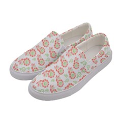 Flower Rose Red Green Sunflower Star Women s Canvas Slip Ons by Mariart