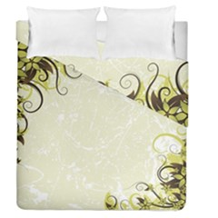 Flower Star Floral Green Camuflage Leaf Frame Duvet Cover Double Side (queen Size) by Mariart