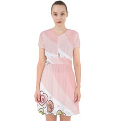 Flower Sunflower Wave Waves Pink Adorable In Chiffon Dress