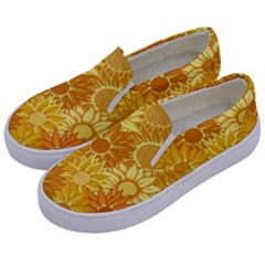Flower Sunflower Floral Beauty Sexy Kids  Canvas Slip Ons by Mariart