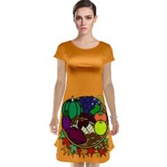 Healthy Vegetables Food Cap Sleeve Nightdress