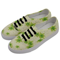 Leaf Green Star Beauty Women s Classic Low Top Sneakers by Mariart