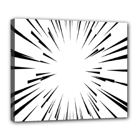 Line Black Sun Arrow Deluxe Canvas 24  X 20   by Mariart