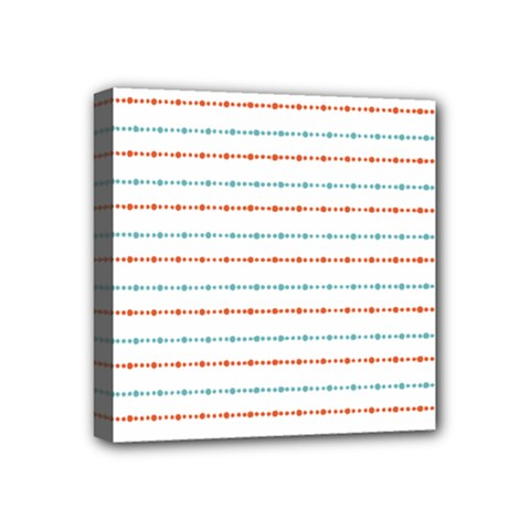 Line Polka Dots Blue Red Sexy Mini Canvas 4  X 4  by Mariart