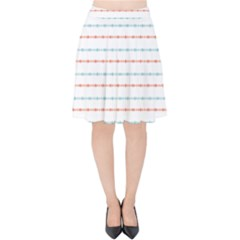 Line Polka Dots Blue Red Sexy Velvet High Waist Skirt by Mariart