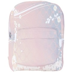Love Heart Flower Purple Sexy Rose Full Print Backpack by Mariart