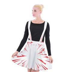 Line Red Sun Arrow Suspender Skater Skirt