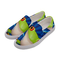 Tree Frog Bowling Women s Canvas Slip Ons by crcustomgifts