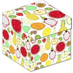 Mango Fruit Pieces Watermelon Dragon Passion Fruit Apple Strawberry Pineapple Melon Storage Stool 12   by Mariart