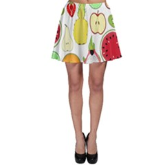 Mango Fruit Pieces Watermelon Dragon Passion Fruit Apple Strawberry Pineapple Melon Skater Skirt by Mariart