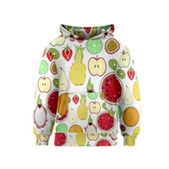Mango Fruit Pieces Watermelon Dragon Passion Fruit Apple Strawberry Pineapple Melon Kids  Pullover Hoodie by Mariart