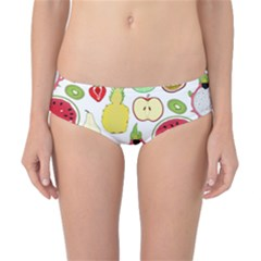 Mango Fruit Pieces Watermelon Dragon Passion Fruit Apple Strawberry Pineapple Melon Classic Bikini Bottoms by Mariart