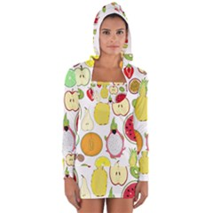 Mango Fruit Pieces Watermelon Dragon Passion Fruit Apple Strawberry Pineapple Melon Long Sleeve Hooded T Shirt by Mariart