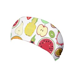Mango Fruit Pieces Watermelon Dragon Passion Fruit Apple Strawberry Pineapple Melon Yoga Headband by Mariart