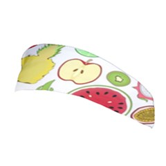 Mango Fruit Pieces Watermelon Dragon Passion Fruit Apple Strawberry Pineapple Melon Stretchable Headband by Mariart