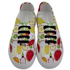 Mango Fruit Pieces Watermelon Dragon Passion Fruit Apple Strawberry Pineapple Melon Women s Classic Low Top Sneakers