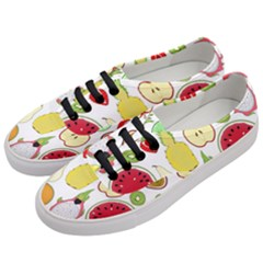 Mango Fruit Pieces Watermelon Dragon Passion Fruit Apple Strawberry Pineapple Melon Women s Classic Low Top Sneakers by Mariart