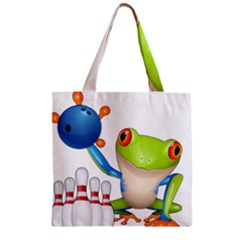 Tree Frog Bowler Zipper Grocery Tote Bag by crcustomgifts
