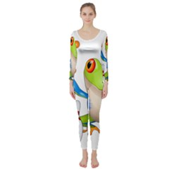 Tree Frog Bowler Long Sleeve Catsuit by crcustomgifts