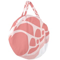 Meat Giant Round Zipper Tote by Mariart
