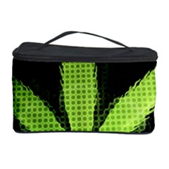 Marijuana Weed Drugs Neon Green Black Light Cosmetic Storage Case by Mariart