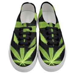 Marijuana Weed Drugs Neon Green Black Light Women s Classic Low Top Sneakers