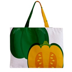 Pumpkin Peppers Green Yellow Medium Tote Bag by Mariart