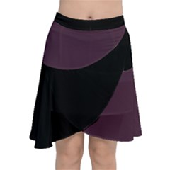 Purple Black Chiffon Wrap Front Skirt by MissUniqueDesignerIs