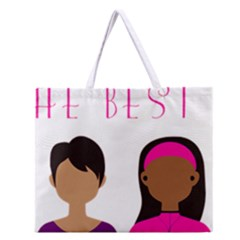 Black Girls Be The Best You Zipper Large Tote Bag by kenique