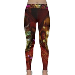 Wonderful Venetian Mask With Floral Elements Classic Yoga Leggings