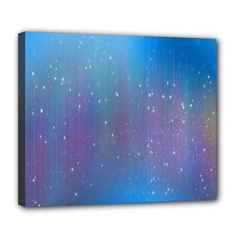Rain Star Planet Galaxy Blue Sky Purple Blue Deluxe Canvas 24  X 20   by Mariart