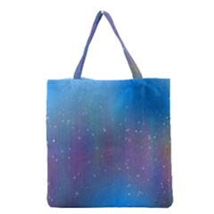 Rain Star Planet Galaxy Blue Sky Purple Blue Grocery Tote Bag by Mariart