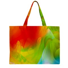 Red Yellow Green Blue Rainbow Color Mix Zipper Mini Tote Bag by Mariart