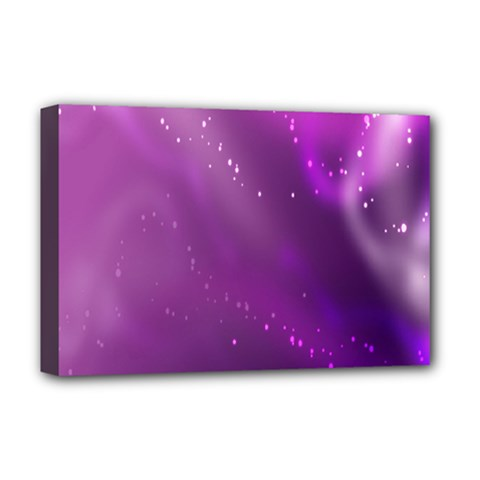 Space Star Planet Galaxy Purple Deluxe Canvas 18  X 12   by Mariart