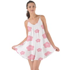 Star Pink Flower Polka Dots Love The Sun Cover Up