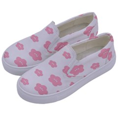 Star Pink Flower Polka Dots Kids  Canvas Slip Ons by Mariart