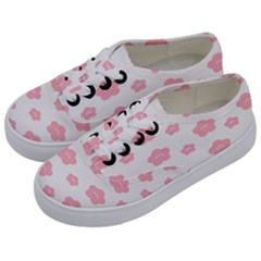 Star Pink Flower Polka Dots Kids  Classic Low Top Sneakers by Mariart
