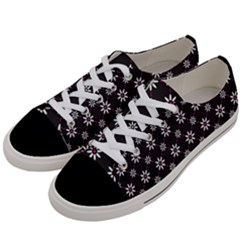 Sunflower Star Floral Purple Pink Women s Low Top Canvas Sneakers by Mariart