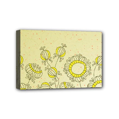 Sunflower Fly Flower Floral Mini Canvas 6  X 4  by Mariart