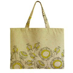 Sunflower Fly Flower Floral Zipper Mini Tote Bag by Mariart