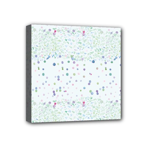 Spot Polka Dots Blue Pink Sexy Mini Canvas 4  X 4  by Mariart