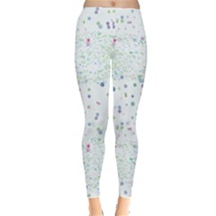 Spot Polka Dots Blue Pink Sexy Leggings  by Mariart