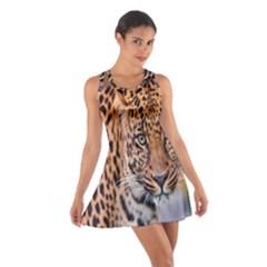 Tiger Beetle Lion Tiger Animals Leopard Cotton Racerback Dress by Mariart