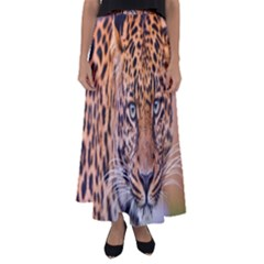 Tiger Beetle Lion Tiger Animals Leopard Flared Maxi Skirt by Mariart