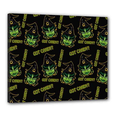 Pattern Halloween Witch Got Candy? Icreate Canvas 24  X 20  by iCreate