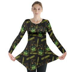 Pattern Halloween Witch Got Candy? Icreate Long Sleeve Tunic  by iCreate